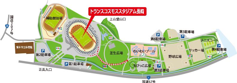 陸上競技場マップ
