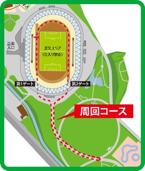 リレーマラソン・コース図