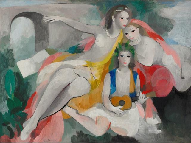 3人の若い女